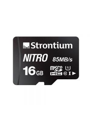 Strontium Nitro 16GB Micro SDHC Memory Card 85MB/s (Black)