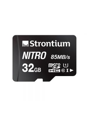 Strontium Nitro 32GB Micro SDHC Memory Card 85MB/s UHS-I U1 Class 10 High Speed (Black)