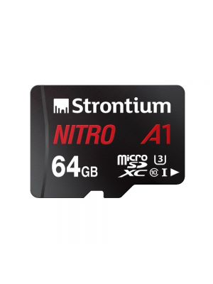 Strontium Nitro A1 64 GB SDXC UHS Class 1 100 Mbps Memory Card  (With Adapter)