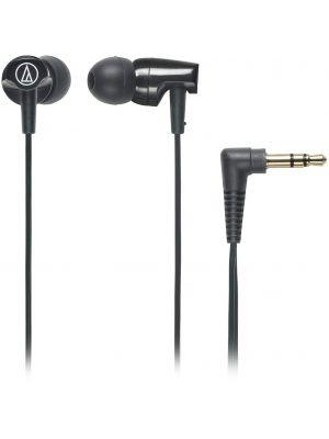 Audio-Technica ATH-CLR100 In-Ear Headphones with Cord Wrap (Black)
