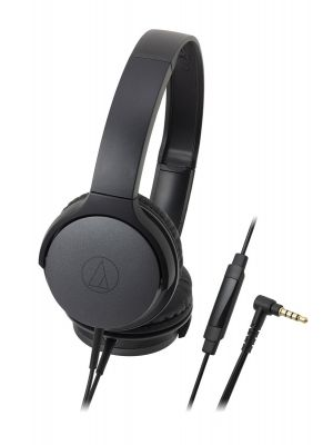 Audio-Technica ATH-AR1iS On-Ear Headphone with Mic (Black)