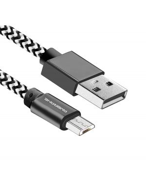 Ambrane CBM-15 1.5 Meter Micro USB Cable (White-Black)