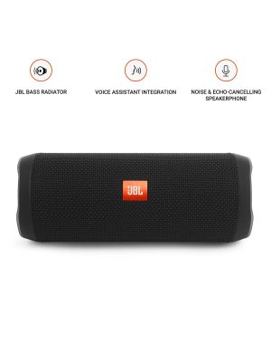 JBL Flip 4  Wireless Speaker(Black)