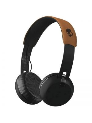 Skullcandy Grind On-Ear Bluetooth Headphones with Mic (Black/Tan)
