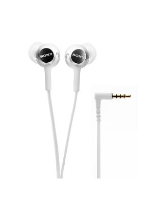 Sony MDR-EX155AP In-Ear Headphones with Mic (White)