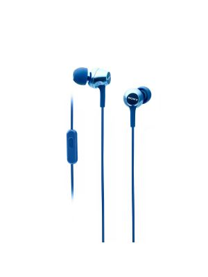 Sony MDR-EX250AP In-Ear Headphones With Mic (Blue)