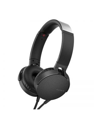 Sony MDR-XB550AP Extra Bass On-Ear Headphones With Mic (Black)