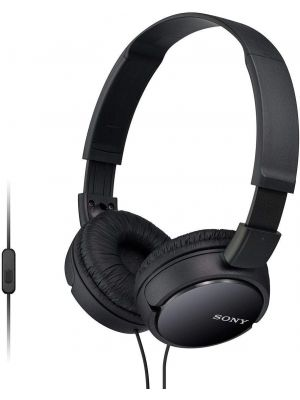 Sony MDR-ZX110AP On-Ear Headphones With Mic (Black)