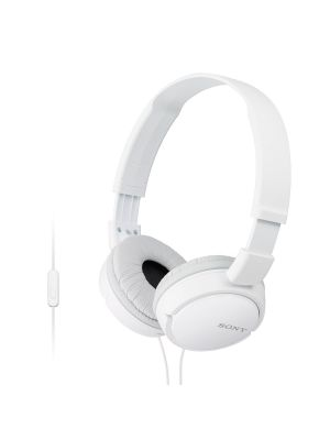 Sony MDR-ZX110AP Over-Ear Headphones With Mic (White)