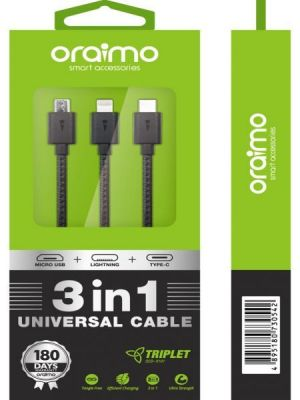 Oraimo OCD-X101 Triplet Cable (Black)