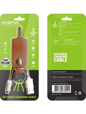 Oraimo OCD-M021 Keychain Charging Micro USB Cable(Brown)