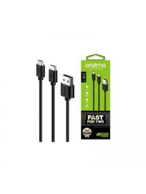 Oraimo Cable  OCD-T61 Micro-USB + Type-C Cable (Black)