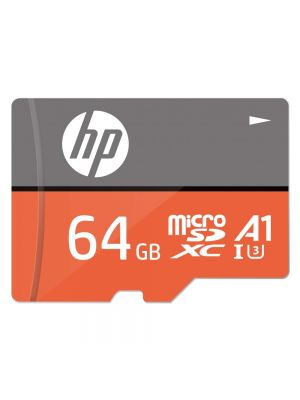 HP Micro SD Card 64GB with Adapter U3A1 Write Speed 60MB/s (Orange)