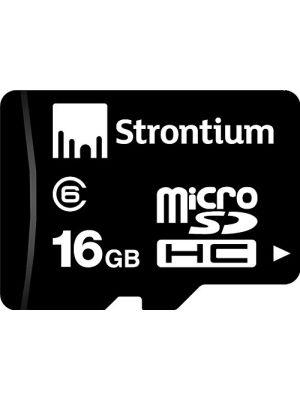 Strontium 16GB MicroSDHC Class 6 Memory Card(Black)