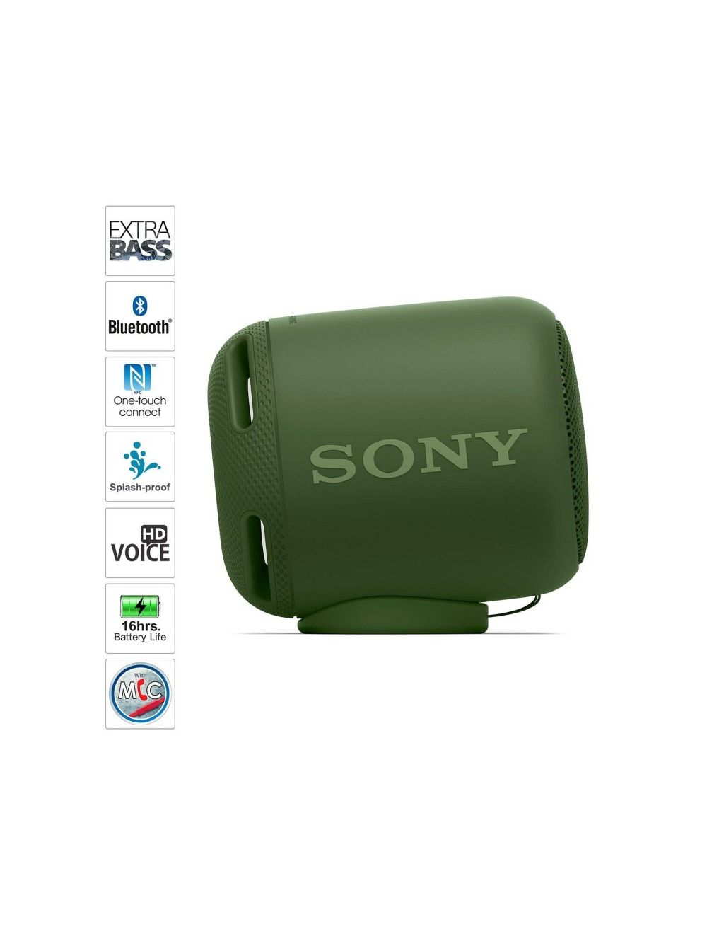 Sony Extra Bass SRS-XB5 Portable Wireless Speakers (Green)