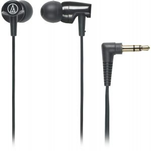 Audio-Technica ATH-CLR100 In-Ear Headphones with Cord Wrap (Black)