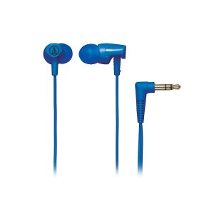 Audio-Technica ATH-CLR100 In-Ear Headphones with Cord Wrap (Blue)