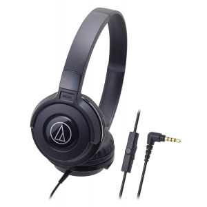 Audio-Technica Street Monitoring ATH-S100iS On-Ear Headphone with Mic (Black)