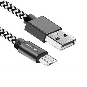 Ambrane CBM-15 1.5 Meter Micro USB Cable (White-Black)