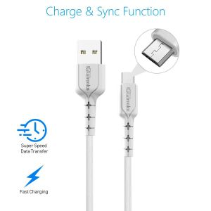 Portronics POR-1031 Konnect Core II 1m Micro USB Cable (White)