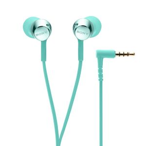 Sony MDR-EX155AP In-Ear Headphones with Mic (Light Blue)
