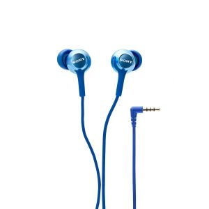 Sony MDR-EX255AP In-Ear Headphones With Mic (Blue)