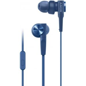 Sony MDR XB55AP In-Ear Headphones (Blue)