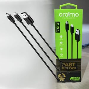 Oraimo OCD-D61 Dura Line Micro + Lightening Cable (Black)